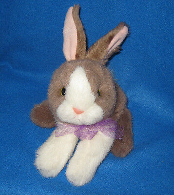 Vintage Tyco Plush Bunny Bunny Bunnies Brown & White 1994 90s