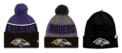 cd7c1d29b BALTIMORE RAVENS CUFFED Beanie Knit Winter Cap Hat NFL Authentic ...