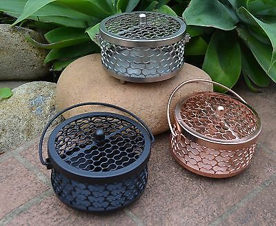 Metal Mosquito Coil Holder in Black, rose or silver Mozzie coil Burner