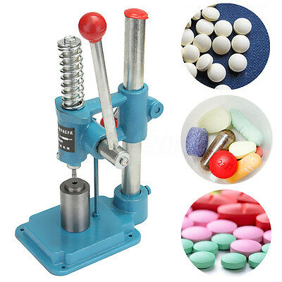6mm Small Tablet Press Machine Manual Hand Punch Powder Pill Maker Home Lab Use