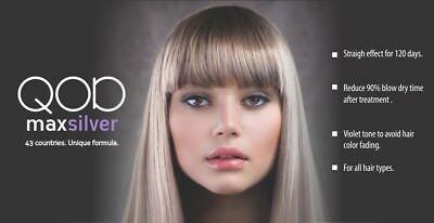 QOD MAX SILVER Brazilian Keratin Hair Straight.Treatment formaldehydfrei