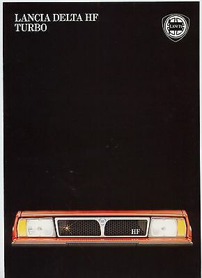 Lancia Delta HF Turbo brochure Prospekt, 1983 (German text)