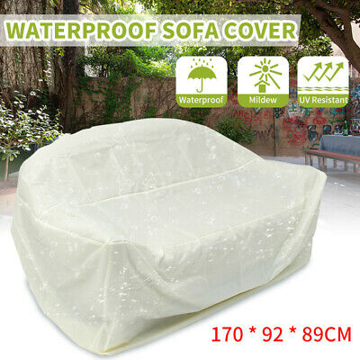 Waterproof Sofa Seat Cover Outdoor Bench Furniture Protection Weather Wrap Taupe