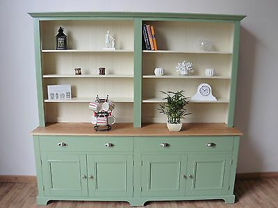 New Solid Pine & Oak 7FT Painted Welsh Dresser In Any F&B Colour