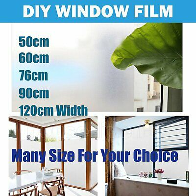 ALL Size Sand Blast Clear Privacy Frosted Frosting Removable Window Glass Film