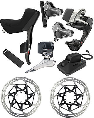 SRAM RED eTap 2x11 WiFLi HRD Groupset Upgrade Kit Flat Mount Medium