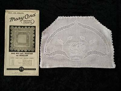 Wonderful ~ Antique MARY CARD Tea Cosy/ Cover ~ ROSE BUD LACE ~Chart  #53