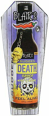 909925 150mL BOTTLE OF BLAIR'S SUDDEN DEATH SAUCE WITH GRINSENA- FEEL ALIVE!