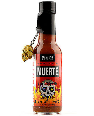 909927 150mL BOTTLE OF BLAIR'S SALSA DE LA MUERTE SAUCE WITH CHIPOTLE!