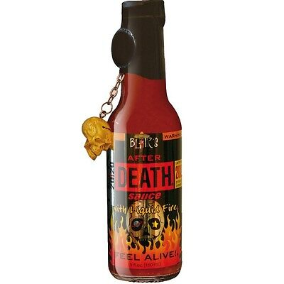 909929 150mL BOTTLE OF BLAIR'S AFTER DEATH SAUCE WITH LIQUID FIRE - FEEL ALIVE!