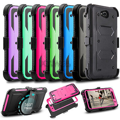 For LG Fiesta LTE/X Charge/X Power 2 Case Shockproof Hybrid Hard Stand TPU Cover