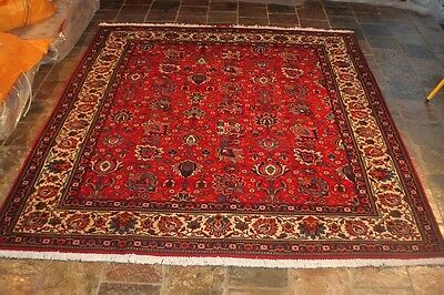 Signed by Master Tabriz' 290x244 Genuine hand knotted persian carpet rug
