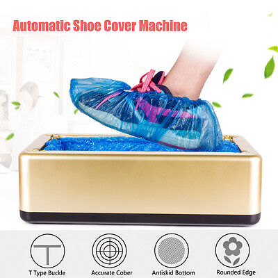 Automatic Shoe Cover Dispenser Machine Home Office Carpet Cleaning Overshoes+Bag