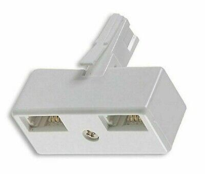 BT Telephone Phone Socket DOUBLE Adapter Two way Adaptor Splitter / Connector