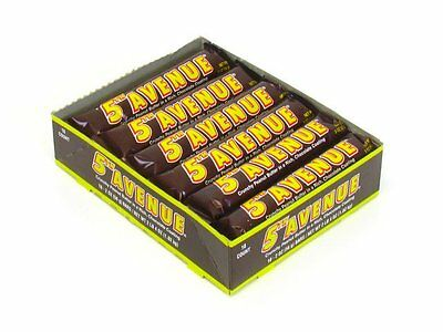 907902 BOX OF 18 x 56g BARS OF 5TH AVENUE PEANUT BUTTER IN CHOCOLATE COATING!