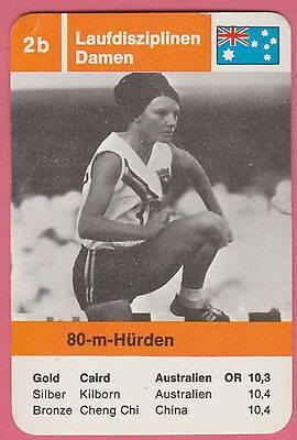 German Trade Card 1968 Olympics 80m Hurdles Gold Medal Maureen Caird Australia