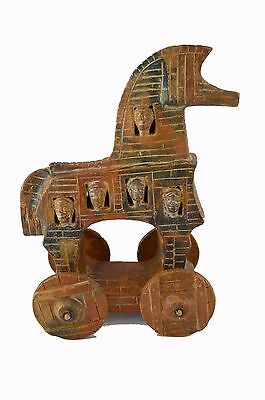 Ancient Greek Trojan Horse Sculpture