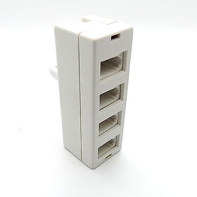BT Telephone Phone Socket Quad Adapter Four way Adaptor Splitter / Connector