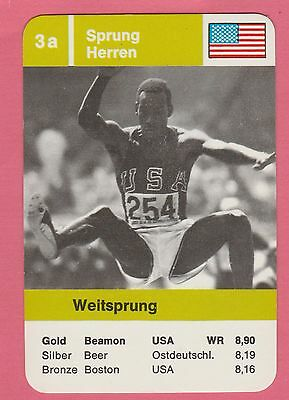 Vintage German Trade Card 1968 Olympics Long Jump Gold Medal Winner Bob Beamon