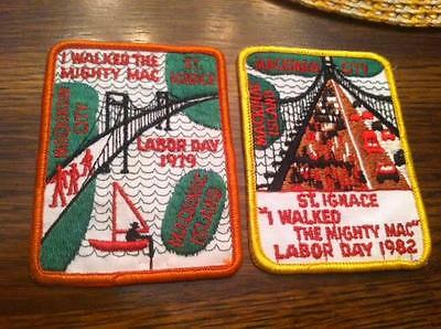Mackinac Mackinaw Bridge Patch lot Labor Day I walked the Vintage Old Patches 2