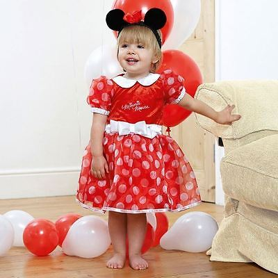 Disney Baby Minnie Mouse Red Dress 3-6mths Toddler Babies Costume Outfit