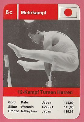 German Trade Card 1968 Olympics Gymnastics Gold Medal Winner Sawao Kato Japan