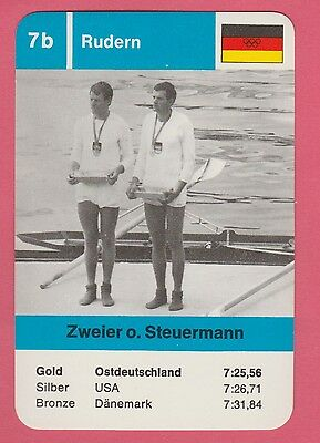 German Trade Card 1968 Olympics Coxless Pairs Gold Medal Winner Germany