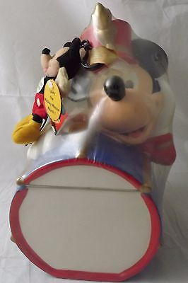 BRAND NEW VINTAGE Mickey Mouse Band Leader Cookie Jar + Plush Mickey SEALED