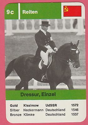 German Trade Card 1968 Olympics Dressage Gold Medal Winner Ivan Kizimov USSR