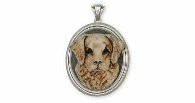 Golden Retriever Pendant Jewelry Sterling Silver Handmade Dog Pendant GDIV-XVP