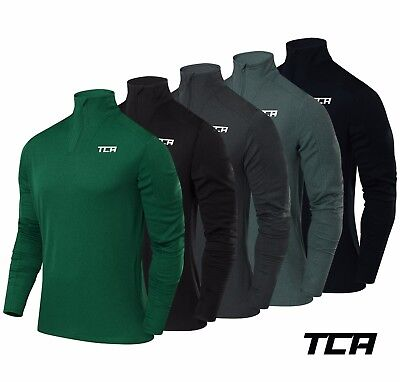 TCA Men's Cloud Fleece 1/4 Zip Thermal Sports Running Top with Zip Pocket
