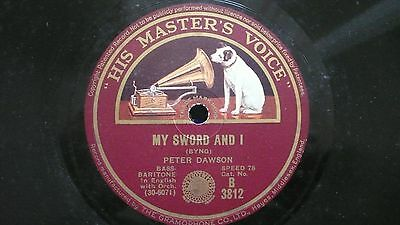"""Peter Dawson, My Sward and I, I Travel the road, 78rpm10"""" His Masters Voice 1929"""