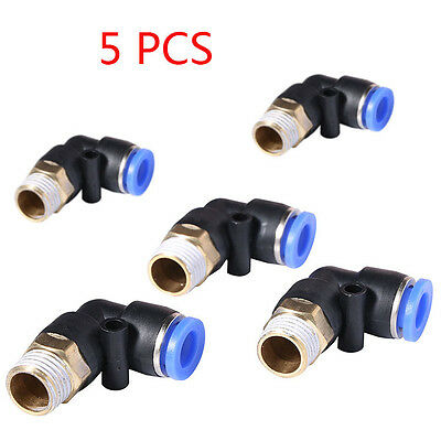 L Type Pneumatic Push Connector Air Line Quick Fittings External Thread Models