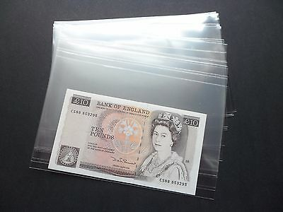 20 LARGE BANKNOTE SLEEVES  120mm x 190mm