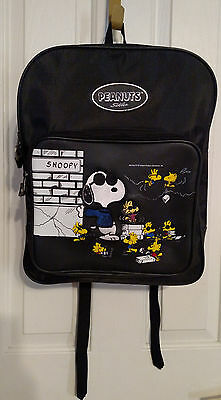 Vintage 1990's Peanuts Snoopy Joe Cool Full Size Backpack School New Old Stock