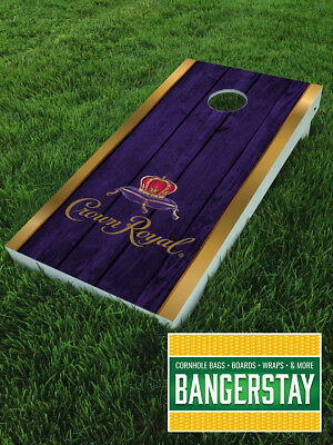 Handcrafted Cornhole Boards with Scorestrip- Crown Royal (CR1)