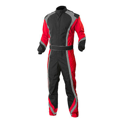 Go Kart Cordura Suit-Black-Red-Grey Mega Sale Unbeatable Price