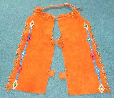Western Childrens Suede Child Horse Riding Chaps