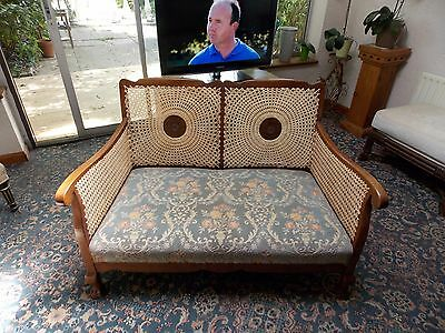 Pretty French Bergere 2 seater sofa - newly restored cane panels Circa 1910