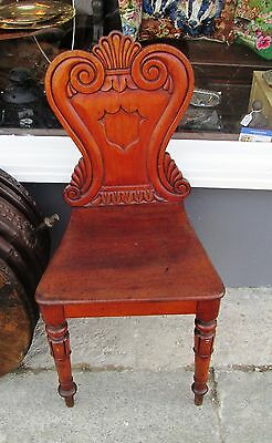 Antique Edwardian very pretty Carved Wooden Hall or Bedroom Chair