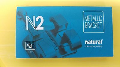 Case of Brackets MBT 0.22 H / 3, 4, 5 sandblasted base N2 NATURAL Orthodontics