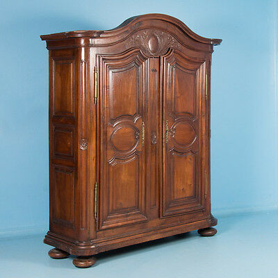 Antique 18th Century French Provincial Carved Walnut Armoire