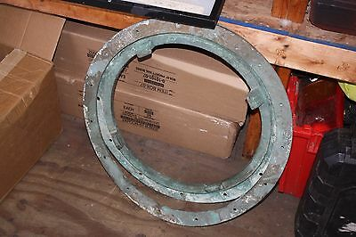 Large Old Brass Porthole Window