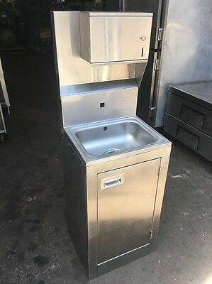 Advance Tabco Commercial Stainless Steel Hand Washing Sink, Dispenser Cabinet