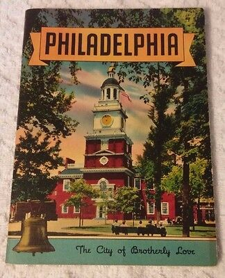 """Vintage 1948 Philadelphia """"The City of Brotherly Love"""" Booklet"""