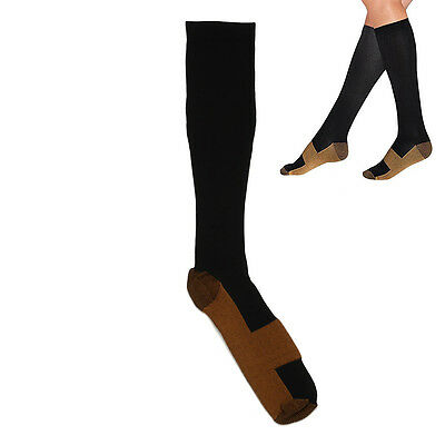 Knee High Anti-fatigue Compression Socks Travel Varicose Veins Stocking