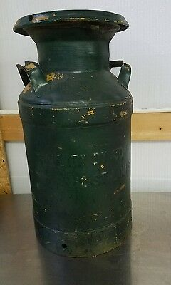 Milk Can Green with Lid Quality Dairy St Louis Rustic Farm 10 gallon