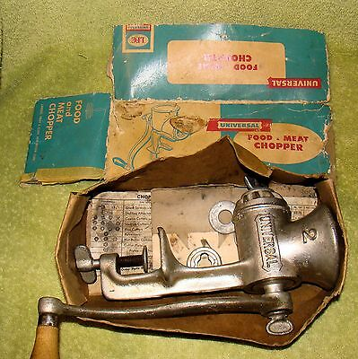 Vintage Meat Grinder And Food Chopper Cast Iron Universal Number 2 Made In USA