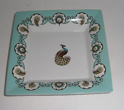 """Vera Bradley 7"""" Square Turquoise Dish Peacock Collection Andrea by Sadek"""