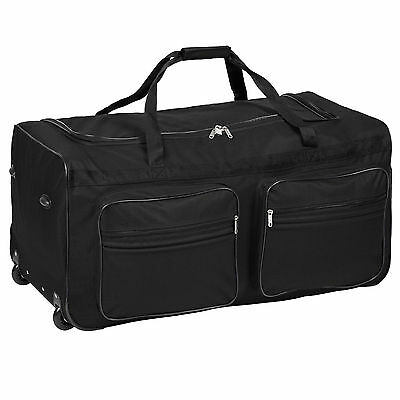 Travel or sport bag, with trolley handles and wheels